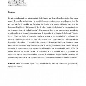 XII Congreso Internacional de Teoría de la Educación. Responsabilidad Social y Aprendizaje Servicio