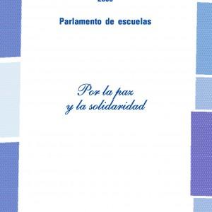 Parlamento de escuelas. Por la paz y la solidaridad