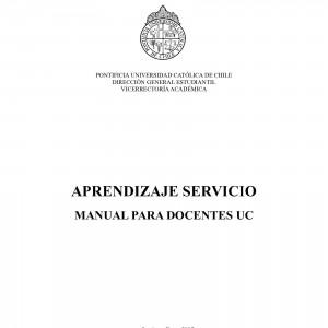 Aprendizaje Servicio. Manual para docentes UC