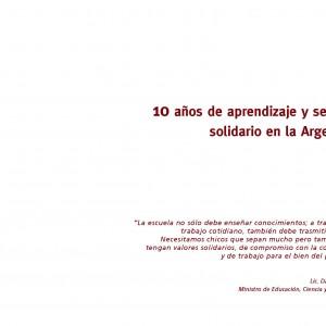 10 años de aprendizaje y servicio solidario en la Argentina
