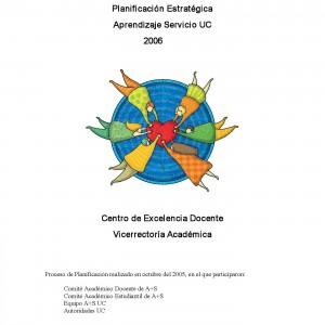 Planificación Estratégica. Aprendizaje Servicio UC 2006