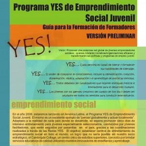 Programa Yes de Emprendimiento Social Juvenil. Guía para la formación de formadores.