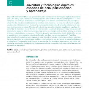 Juventud y tecnologías digitales: espacios de ocio, participación y aprendizaje