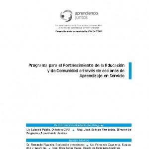 Programa para el fortalecimiento de la Educación y de Comunidad a través de acciones de Aprendizaje en Servicio