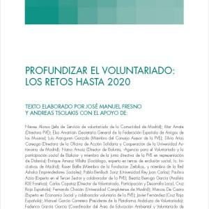 Profundizar el voluntariado: los retos hasta el 2020